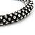 Gun Metal Austrian Crystal Bracelet - 18cm Length - view 4