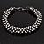 Gun Metal Austrian Crystal Bracelet - 18cm Length - view 2