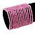 Wide Pink Glass Bead Flex Bracelet - up to 19cm wrist