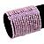 Wide Pale Lavender Glass Bead Flex Bracelet - up to 19cm wrist