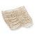 Wide Transparent White Glass Bead Flex Bracelet - up to 19cm wrist - view 4