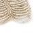 Wide Transparent White Glass Bead Flex Bracelet - up to 19cm wrist - view 3