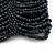 Wide Dark Grey Glass Bead Flex Bracelet - up to 19cm wrist - view 4