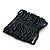 Wide Dark Grey Glass Bead Flex Bracelet - up to 19cm wrist - view 5