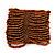 Wide Brown Glass Bead Flex Bracelet - up to 19cm wrist - view 2