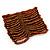 Wide Brown Glass Bead Flex Bracelet - up to 19cm wrist - view 5