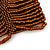 Wide Brown Glass Bead Flex Bracelet - up to 19cm wrist - view 4