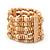Light Brown Multistrand Wood Bead Bracelet - up to 18cm wrist