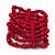 Fuchsia Multistrand Wood Bead Bracelet - up to 18cm wrist - view 3