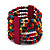 Multicoloured Multistrand Wood Bead Bracelet - up to 19cm wrist - view 2