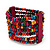 Multicoloured Multistrand Wood Bead Bracelet - up to 19cm wrist - view 3