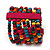 Multicoloured Multistrand Wood Bead Bracelet - up to 19cm wrist - view 5