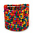 Wide Multicoloured Multistrand Wood Bead Bracelet - up to 20cm wrist - view 3