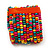 Wide Multicoloured Multistrand Wood Bead Bracelet - up to 20cm wrist - view 5