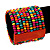 Wide Multicoloured Multistrand Wood Bead Bracelet - up to 20cm wrist - view 2