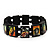 "Black Bob Marley ""One Love"" Wooden Stretch Bracelet - up to 20cm length - view 8"