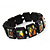 "Black Bob Marley ""One Love"" Wooden Stretch Bracelet - up to 20cm length - view 9"