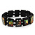 "Black Bob Marley ""One Love"" Wooden Stretch Bracelet - up to 20cm length - view 7"