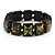 "Black Bob Marley ""One Love"" Wooden Stretch Bracelet - up to 20cm length - view 2"