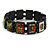 "Black Bob Marley ""One Love"" Wooden Stretch Bracelet - up to 20cm length - view 4"