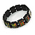 "Black Bob Marley ""One Love"" Wooden Stretch Bracelet - up to 20cm length - view 6"