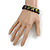 "Black Bob Marley ""One Love"" Wooden Stretch Bracelet - up to 20cm length - view 3"