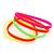 Stretchy Neon Rubber Bracelet Set - view 3