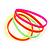 Stretchy Neon Rubber Bracelet Set - view 4
