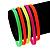 Stretchy Neon Rubber Bracelet Set - view 2
