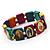 Stretch Multicoloured Wooden Saints Bracelet / Jesus Bracelet / All Saints Bracelet - Up to 20cm Length - view 3