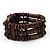 Fancy Multistrand Wood Bracelet - up to 19cm wrist