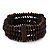 Fancy Wood Bead Bracelet - up to 19cm wrist