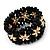 Black Floral Wood Bead Bracelet - up to 19cm wrist - view 4