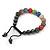 Unisex Multicoloured Swarovski Crystal Balls & Smooth Round Hematite Beads Buddhist Bracelet - 10mm - Adjustable - view 5