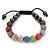 Unisex Multicoloured Swarovski Crystal Balls & Smooth Round Hematite Beads Buddhist Bracelet - 10mm - Adjustable - view 6