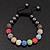 Unisex Multicoloured Swarovski Crystal Balls & Smooth Round Hematite Beads Buddhist Bracelet - 10mm - Adjustable - view 2