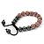 Pink Swarovski Crystal Balls & Smooth Round Hematite Beads Buddhist Bracelet - 10mm - Adjustable - view 8