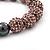 Pink Swarovski Crystal Balls & Smooth Round Hematite Beads Buddhist Bracelet - 10mm - Adjustable - view 5