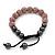 Pink Swarovski Crystal Balls & Smooth Round Hematite Beads Buddhist Bracelet - 10mm - Adjustable - view 7