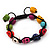 Unisex  Multicoloured Skull Shape Stone Beads Buddhist Bracelet - Adjustable - view 7