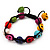 Unisex  Multicoloured Skull Shape Stone Beads Buddhist Bracelet - Adjustable - view 8
