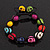 Unisex  Multicoloured Skull Shape Stone Beads Buddhist Bracelet - Adjustable - view 10
