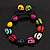 Unisex  Multicoloured Skull Shape Stone Beads Buddhist Bracelet - Adjustable - view 2