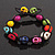 Unisex  Multicoloured Skull Shape Stone Beads Buddhist Bracelet - Adjustable - view 5