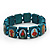Stretch Teal Wooden Saints Bracelet / Jesus Bracelet / All Saints Bracelet - Up to 20cm Length