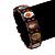 Stretch Brown Wooden Saints Bracelet / Jesus Bracelet / All Saints Bracelet - Up to 20cm Length - view 3