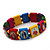 Stretch Multicoloured Wooden Saints Bracelet / Jesus Bracelet / All Saints Bracelet - Up to 20cm Length - view 2
