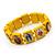 Stretch Yellow Wooden Saints Bracelet / Jesus Bracelet / All Saints Bracelet - Up to 20cm Length - view 3