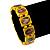 Stretch Yellow Wooden Saints Bracelet / Jesus Bracelet / All Saints Bracelet - Up to 20cm Length - view 2