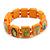 Stretch Orange Wooden Saints Bracelet / Jesus Bracelet / All Saints Bracelet - Up to 20cm Length